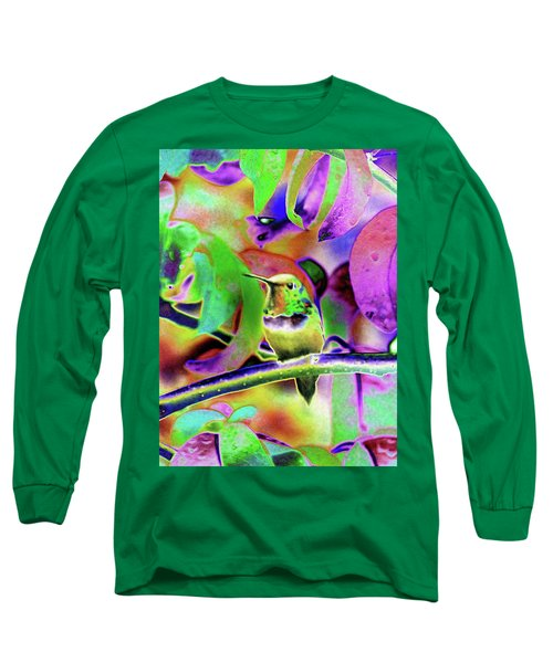 Solarized Hummer Long Sleeve T-Shirt by Wendy McKennon