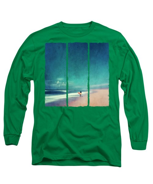 Summer Days - Abstract Seascape With Surfer Long Sleeve T-Shirt