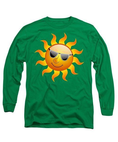 Sun With Sunglasses Long Sleeve T-Shirt