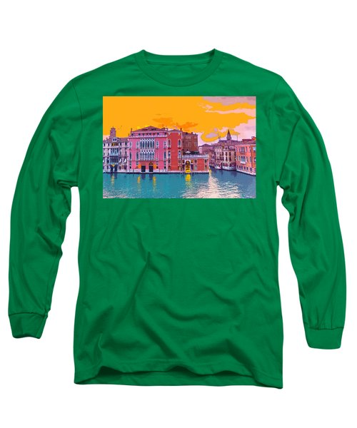 Sunset On The Grand Canal Venice Long Sleeve T-Shirt