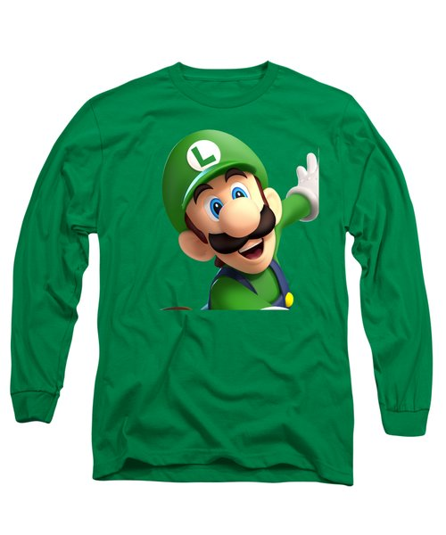 Super Luigi Art Long Sleeve T-Shirt