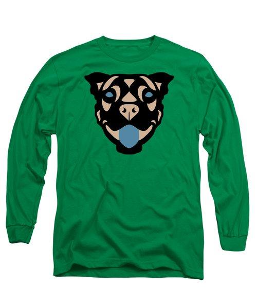 Terrier Terry - Dog Design - Greenery, Hazelnut, Niagara Blue Long Sleeve T-Shirt