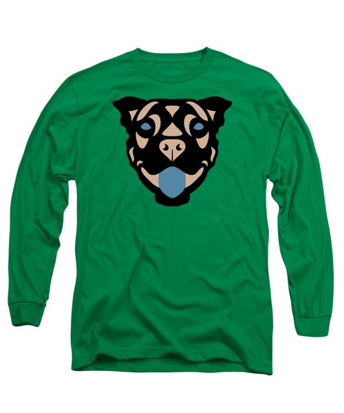 Terrier Terry - Dog Design - Greenery, Hazelnut, Niagara Blue Long Sleeve T-Shirt