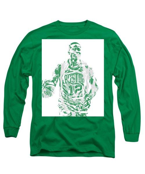 Terry Rozier Boston Celtics Pixel Art 11 Long Sleeve T-Shirt
