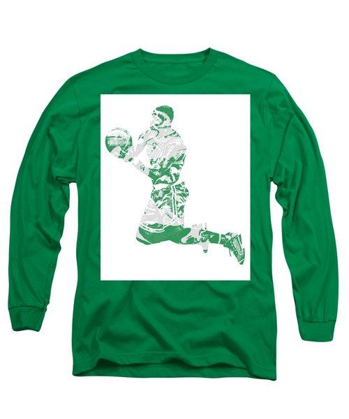 Terry Rozier Boston Celtics Pixel Art 12 Long Sleeve T-Shirt