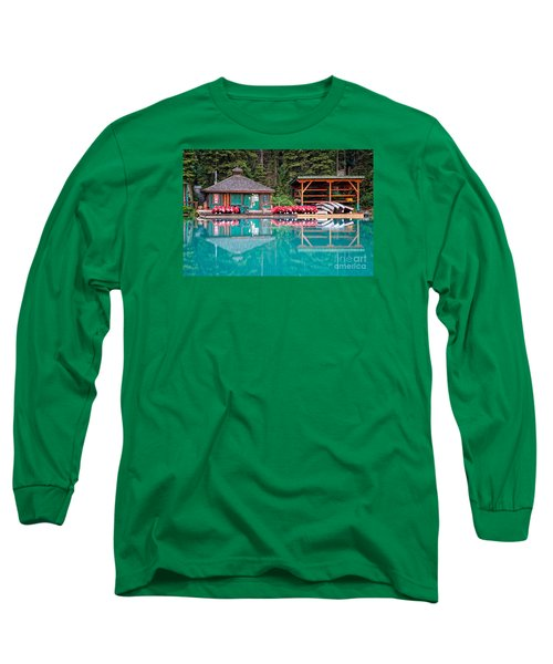 The Boat House At Emerald Lake In Yoho National Park Long Sleeve T-Shirt