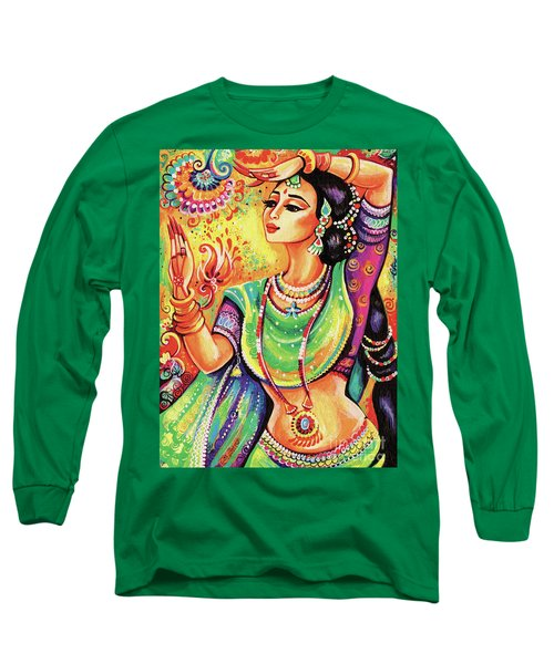 Long Sleeve T-Shirt featuring the painting The Dance Of Tara by Eva Campbell