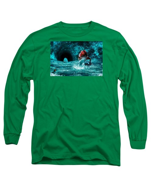Long Sleeve T-Shirt featuring the digital art The Eternal Ballad Of The Sea by Olga Hamilton