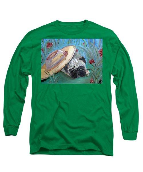 The Garden Pug Long Sleeve T-Shirt