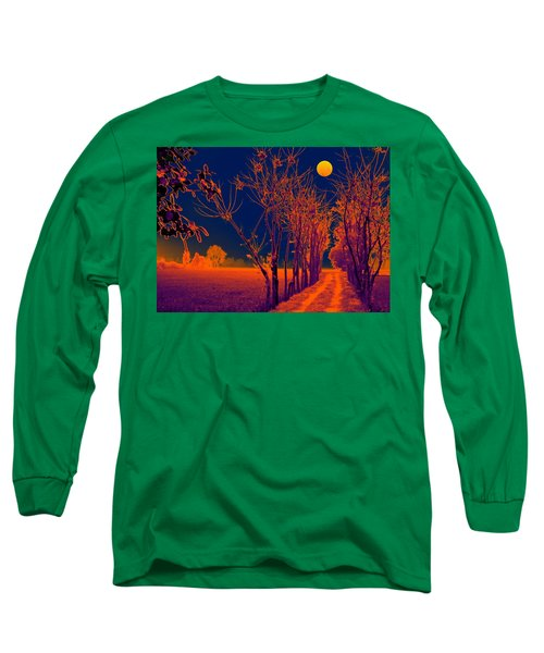 Long Sleeve T-Shirt featuring the digital art The Glowing Path by Bliss Of Art