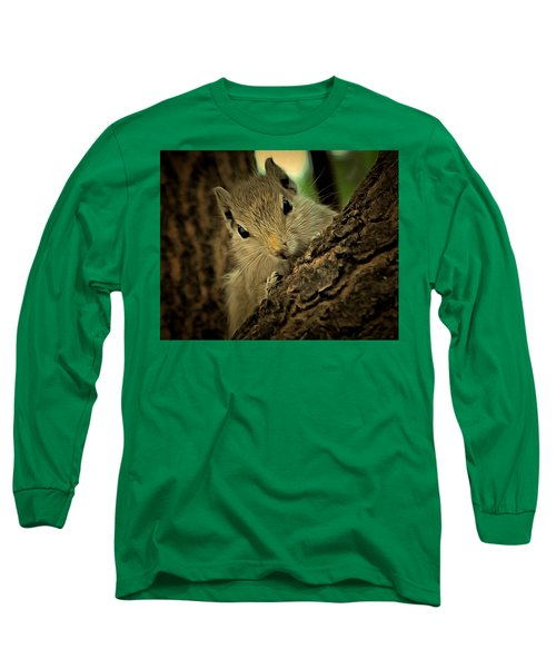 Long Sleeve T-Shirt featuring the digital art The Squirrel Expression by Bliss Of Art