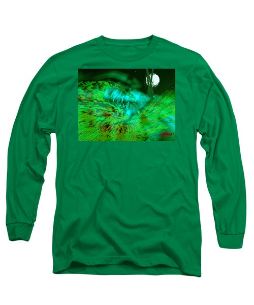 Long Sleeve T-Shirt featuring the digital art The Winged Terror Of Titicaca by Seth Weaver