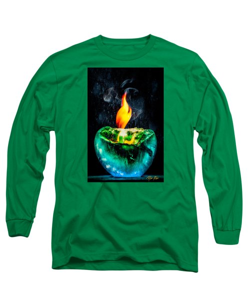 Long Sleeve T-Shirt featuring the photograph The Winter Of Fire And Ice by Rikk Flohr