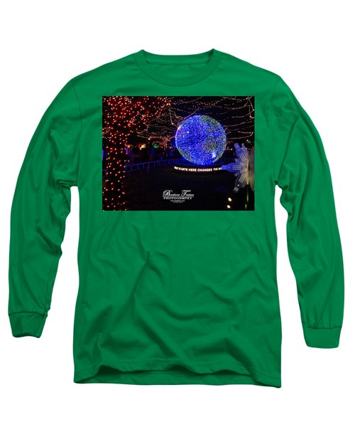 Trail Of Lights World #7359 Long Sleeve T-Shirt by Barbara Tristan