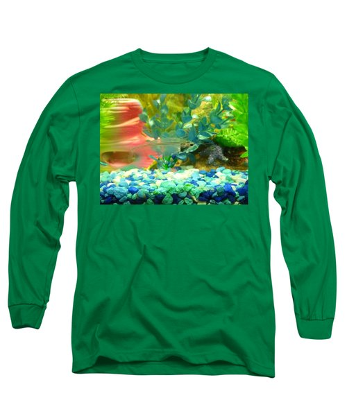Transparent Catfish Long Sleeve T-Shirt by Barbara Yearty