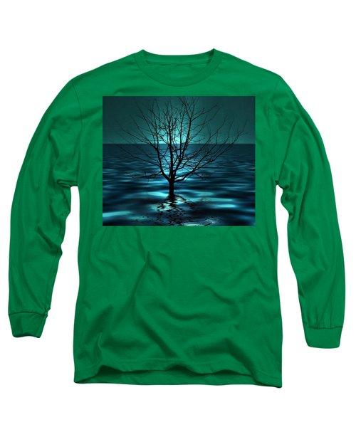 Tree In Ocean Long Sleeve T-Shirt