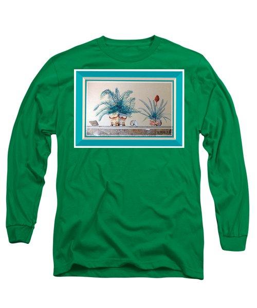 Trompe L'oeil Plants Long Sleeve T-Shirt