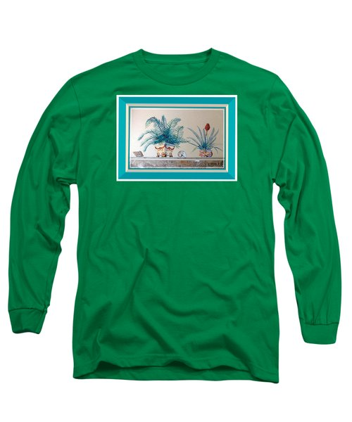 Trompe L'oeil Plants Long Sleeve T-Shirt