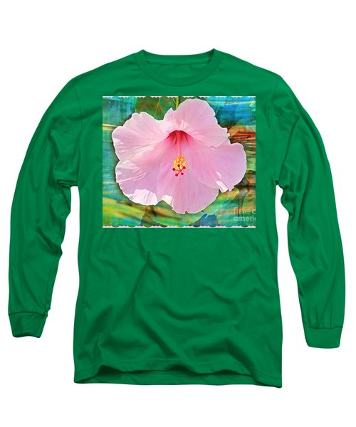 Tropicale Pink Hibiscus Long Sleeve T-Shirt