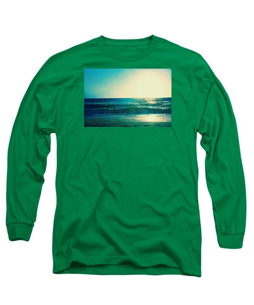 Turquoise Waves Long Sleeve T-Shirt