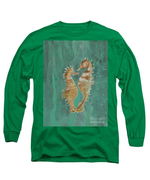Two Seahorse Lovers Long Sleeve T-Shirt