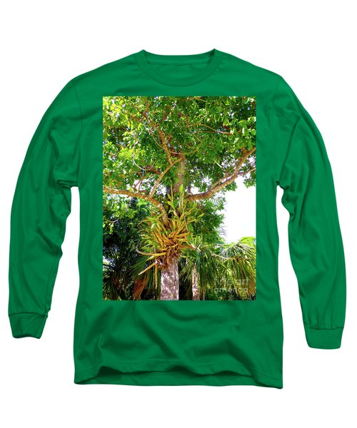 Long Sleeve T-Shirt featuring the photograph Under A Tropical Tree M by Francesca Mackenney