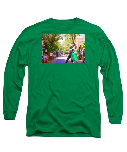 Long Sleeve T-Shirt featuring the painting Urban Dancers  by Judy Kay