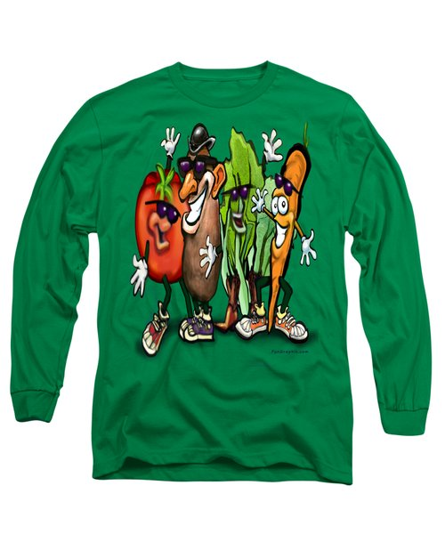 Veggies Long Sleeve T-Shirt by Kevin Middleton