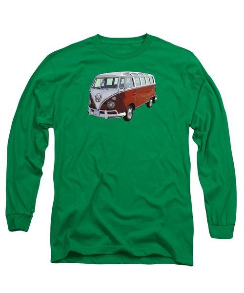 Volkswagen Bus 21 Window Bus  Long Sleeve T-Shirt by Keith Webber Jr