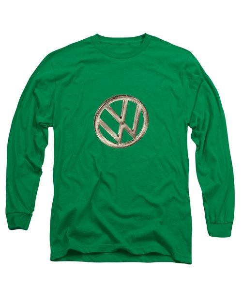 Vw Car Emblem Long Sleeve T-Shirt by YoPedro