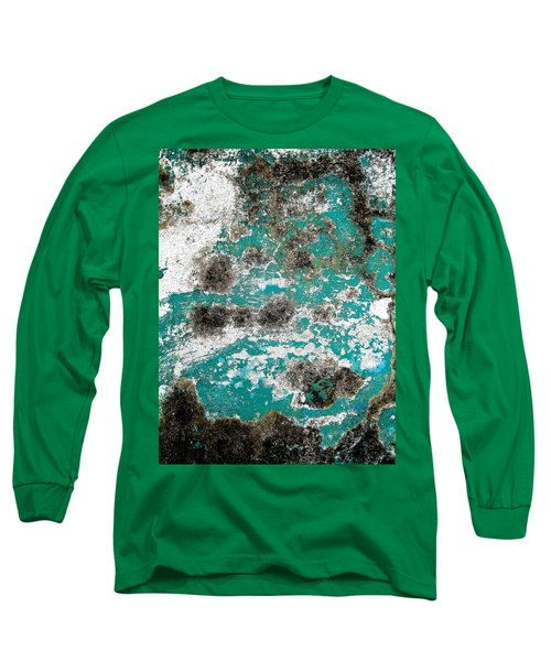 Wall Abstract 171 Long Sleeve T-Shirt by Maria Huntley