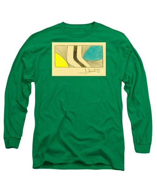 Waves Blue Yellow Long Sleeve T-Shirt