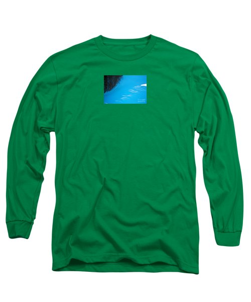 Long Sleeve T-Shirt featuring the photograph We Got The Blues - Winter In Switzerland by Susanne Van Hulst