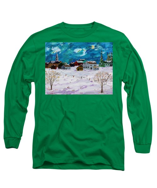 Winter Village Long Sleeve T-Shirt by Mike Caitham