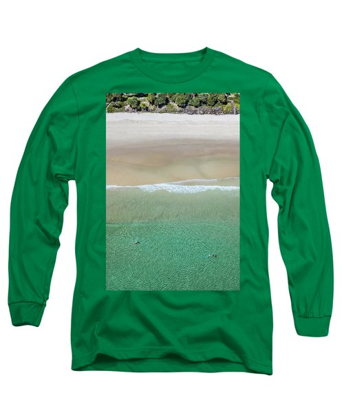 Long Sleeve T-Shirt featuring the photograph Byron Bay Swimmers by Chris Cousins