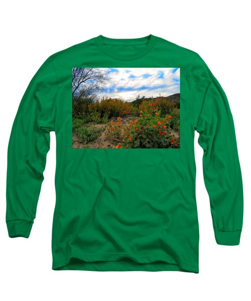 Desert Wildflowers In The Valley Long Sleeve T-Shirt