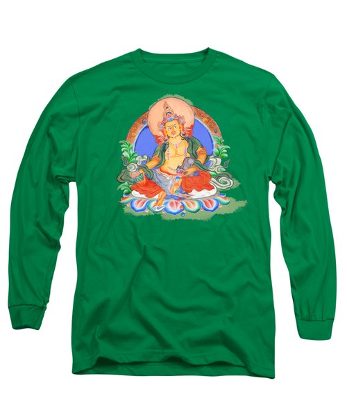 Dzambala The Buddha Of Wealth Long Sleeve T-Shirt