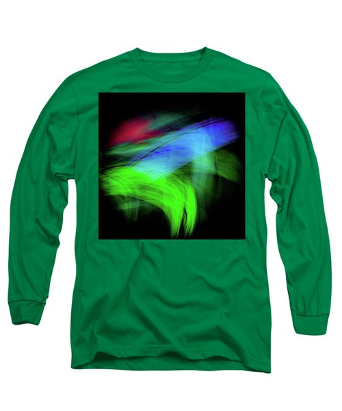 Green Cat Long Sleeve T-Shirt