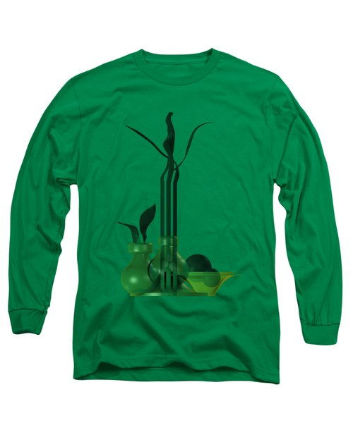 Green Still Life With Cool Elements Long Sleeve T-Shirt