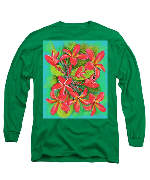 Plumeria Sunburst Long Sleeve T-Shirt
