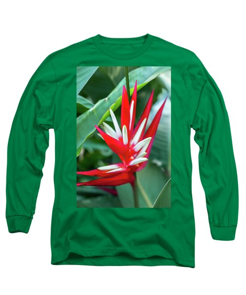 Red And White Birds Of Paradise Long Sleeve T-Shirt