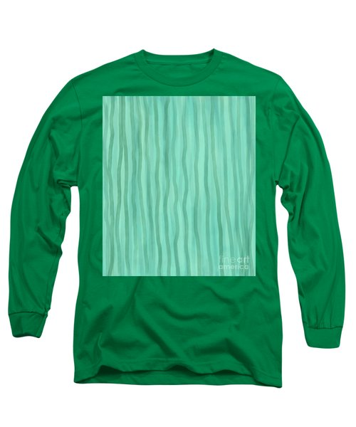 Soft Green Lines Long Sleeve T-Shirt