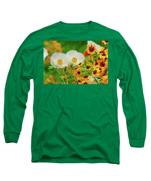 Texas Wildflowers Long Sleeve T-Shirt