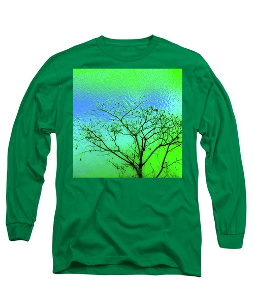 Tree And Water 3 Long Sleeve T-Shirt