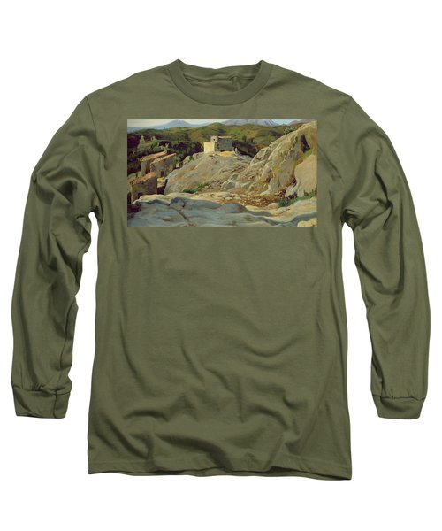 A Village In The Mountains Long Sleeve T-Shirt