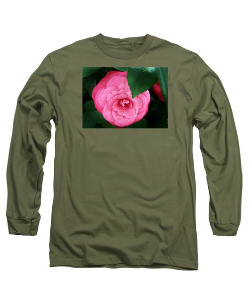 Camellia Japonica ' Elizabeth Weaver ' Long Sleeve T-Shirt by William Tanneberger