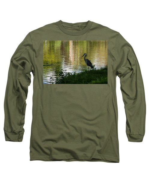 Long Sleeve T-Shirt featuring the photograph Contemplating Impressionist Paintings by Georgia Mizuleva