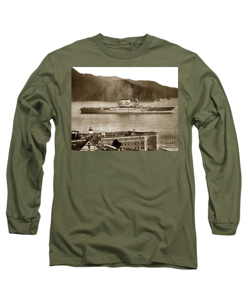 U. S. S. Lexington Cv-2 Fort Point Golden Gate San Francisco Bay California 1928 Long Sleeve T-Shirt