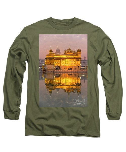 Golden Temple In Amritsar - Punjab - India Long Sleeve T-Shirt by Luciano Mortula
