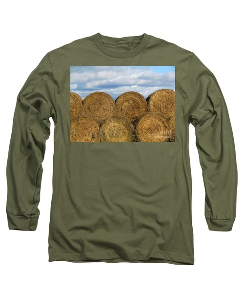 Hay  Long Sleeve T-Shirt by France Laliberte
